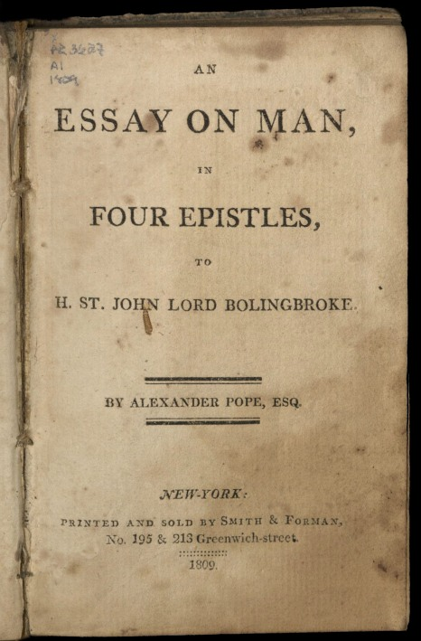 History  Jonathan Russell Clark An Essay On An Essay On Man By Alexander Pope