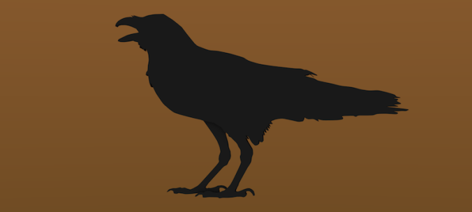 raven-silhouette-3d-printing-43878